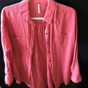 *NWOT* Free People Button-Down
